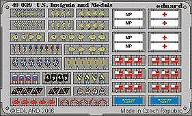 Eduard 1/48 US Uniforme insignes et médailles WWII Pré-Peint en c