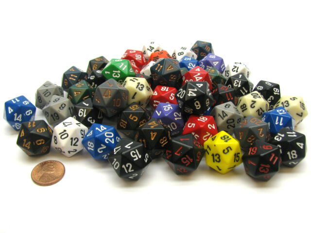 Opaque D20 Poly Assorted Bag Of Dice