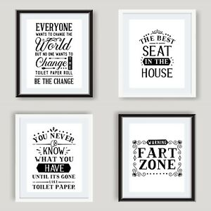 BEST SEAT IN HOUSE Funny Bathroom Print Contemporary Wall Art Poster Toilet Home