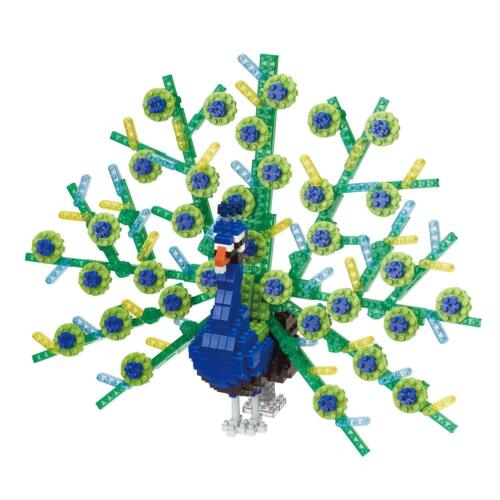 Kawada Nanoblock NBM-023 Animals Deluxe Edition : Peacock 600pcs