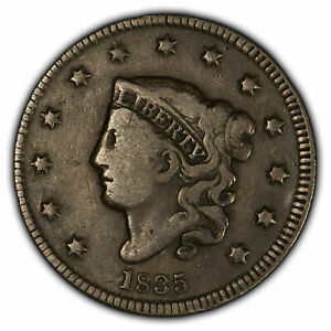 1835 1c Coronet Head Large Cent - Small 8 Small Stars - Tough Variety SKU-Y2052
