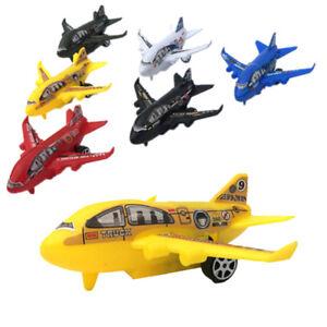 Plastic-Air-Bus-Model-Kids-Children-Pull-Back-Airliner-Passenger-Plane-Toy-I