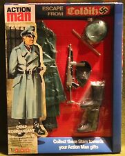 vintage action man 40th anniversary german camp kommandant card boxed