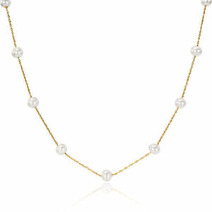Amour-10k-Yellow-Gold-White-Freshwater-Pearl-Necklace-5-5-6mm