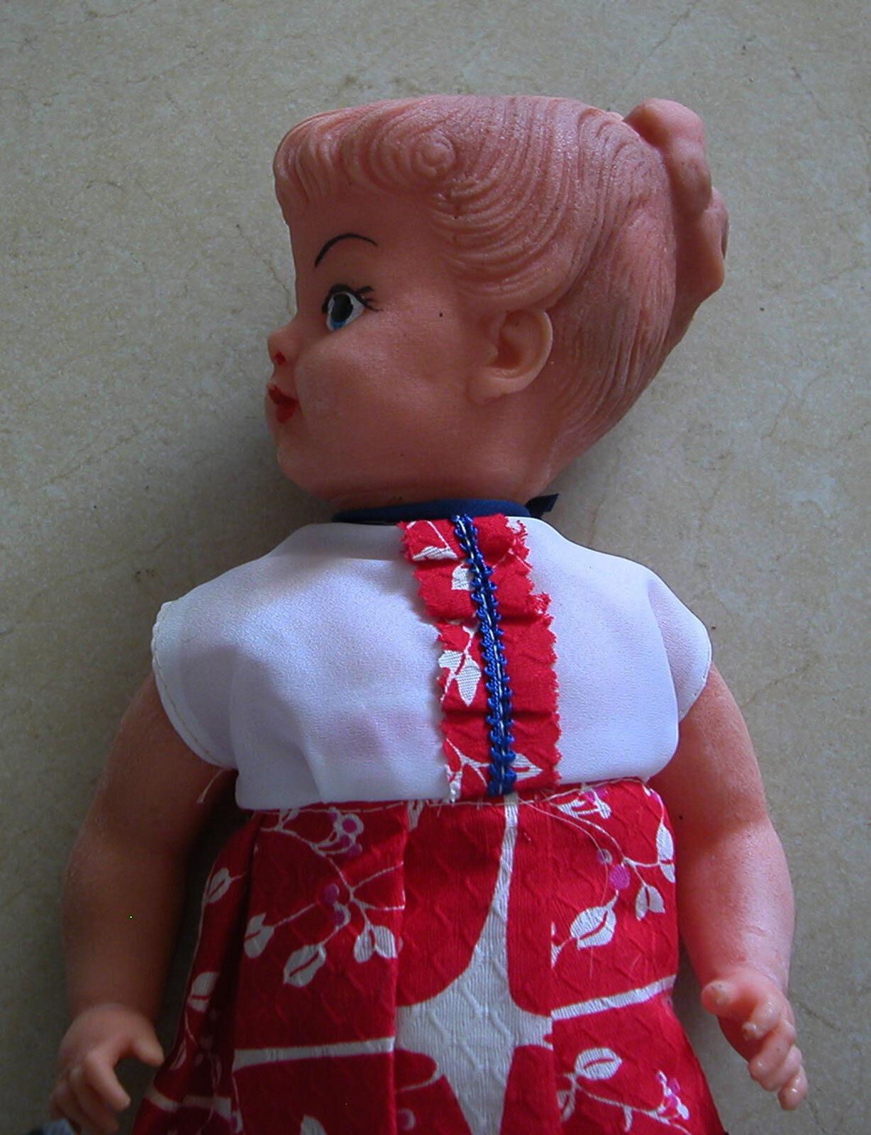 A Rare Vintage Big Doll By Bubati Toys Israeli Company 43.5 cm (17.4 ) Long -New