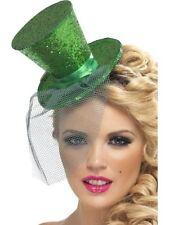Ladies Womens Girls Fever Sexy Mini Top Hat Headband Green Fancy Dress Burlesque
