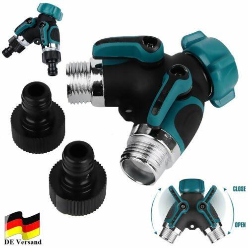 DHL Wasserhahn Fitting Wasserrohr Y-Form Verteiler Kupplung 2 Wege Wasserhähne