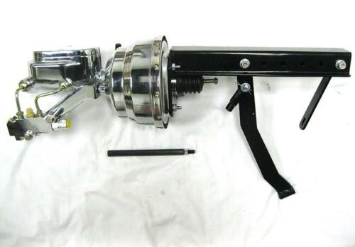 "Pedal Bracket Kit Disc Drum CHROME 8/"" Power Booster Flat Top Master Cylinder"