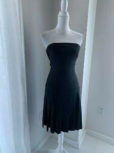 Theory-Strapless-Wool-Pleated-Drop-Waist-Dress-SZ-2-XS