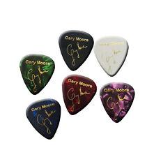 Gary Moore *1.2mm* signature stamp gold printed plectrum guitar picks set of 6