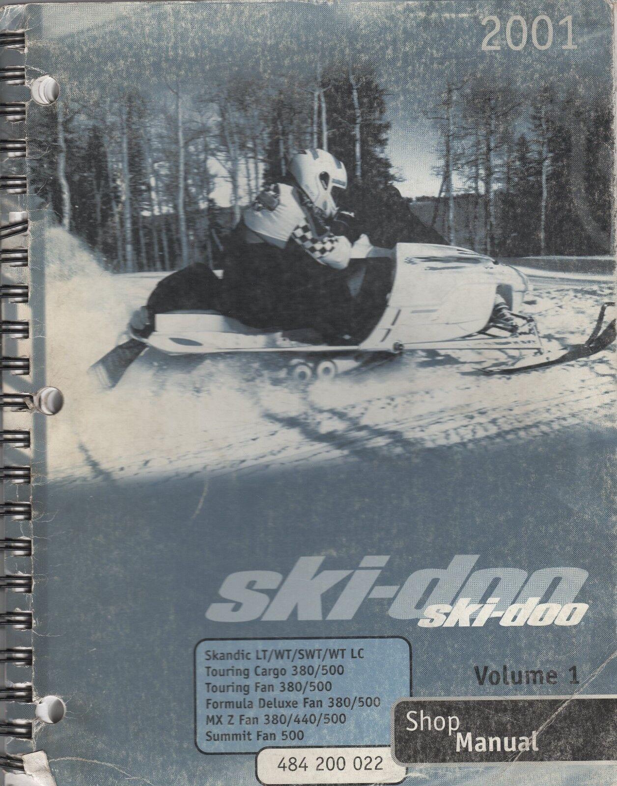2001 SKI-DOO SNOWMOBILE SHOP MANUAL VOLUME 1 SERIES  484 200 022 (394)