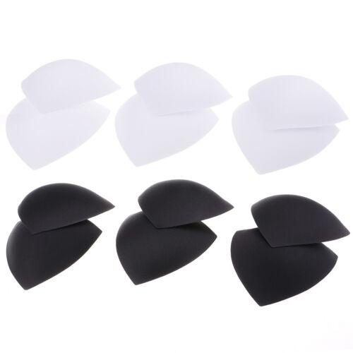 6 paires de femmes Triangle Amovible Bonnets Soutien-Gorge Inserts Pads pour