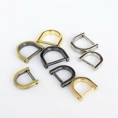 Metal Cast D-Ring Shackle Screw Pin Joint Connect Leather Craft Bag Hardware