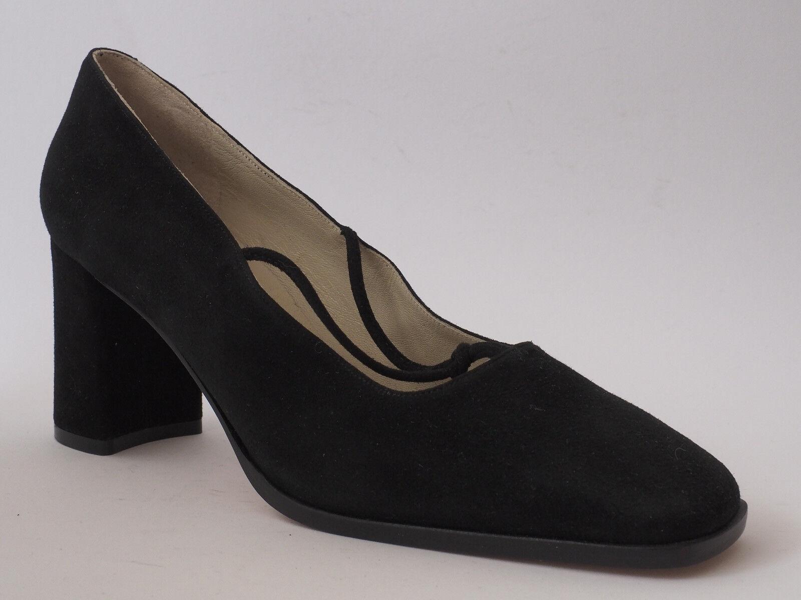 Montbui 1960 Ladies shoes Evening shoes 40,5 Leather Black Court shoes New