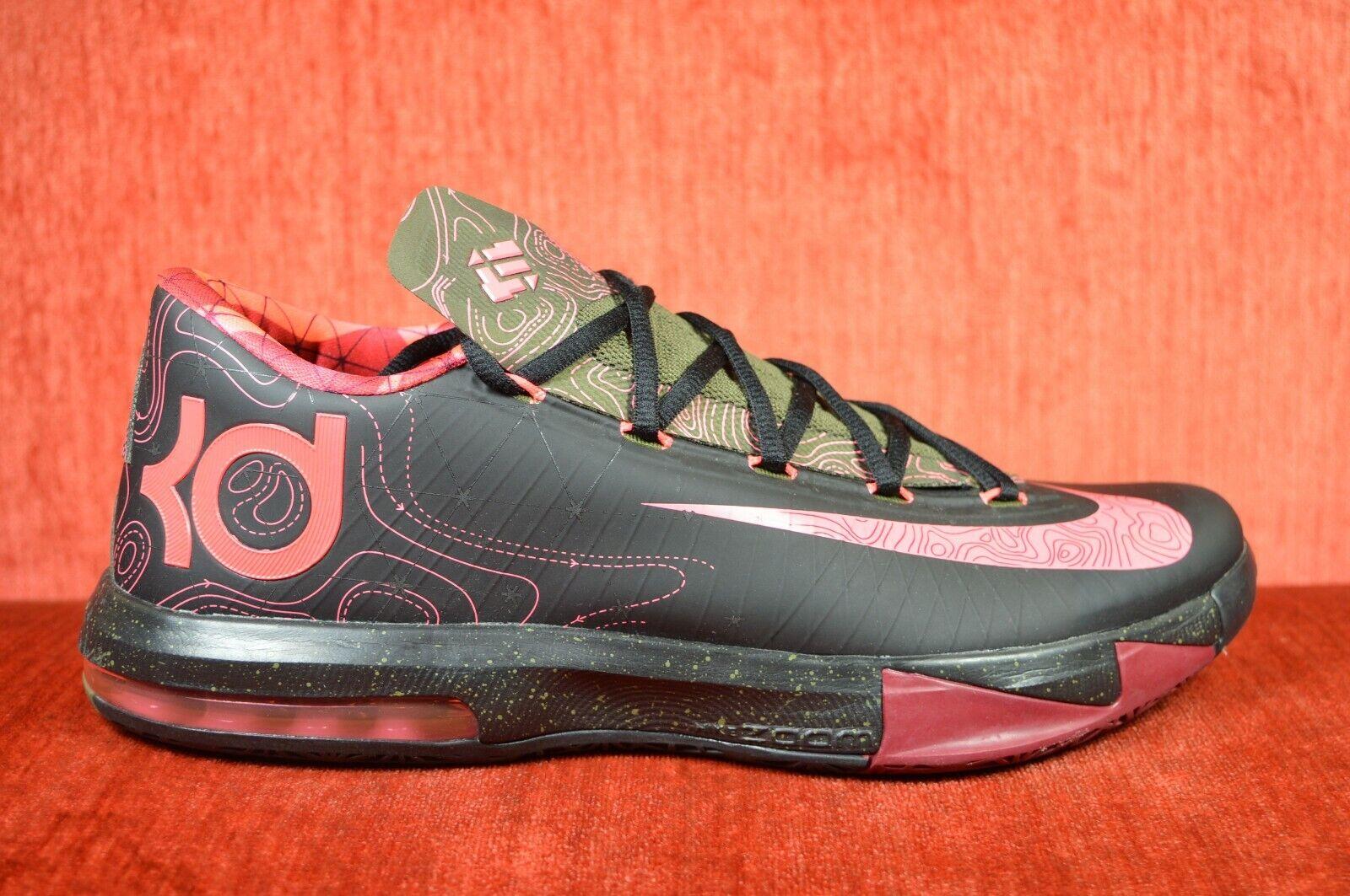 WORN ONCE Nike KD VI VI VI 599424-006 Size 10 Durant Lebron Black Pink Meterology 208046