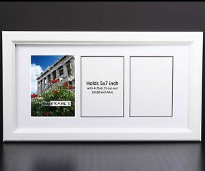 Creativepf 3 Opening Multi 5x7 White Picture Frame 10x20 White