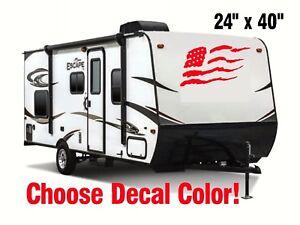 Rv Graphic Usa Flag 02 Front Vinyl Sticker Decal Toy Hauler Trailer Motorhome Ebay