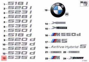 Genuine BMW E60 Trunk Lid 535d Emblem Badge Logo Sign OEM 51147159340