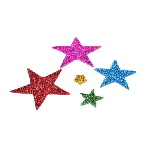 50x 3D Pegatina de espuma adhesiva Estrella De Brillo Navidad Tarjetas Colección de recortes dsu