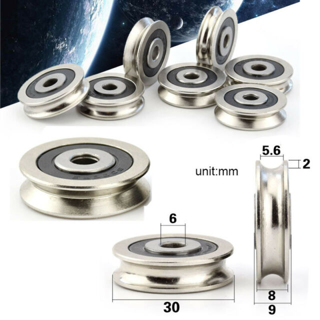 8x30x14mm Groove Sealed Guide Pulley Rail Ball Bearing