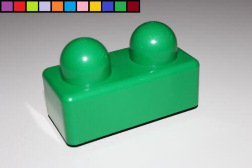 2er Baustein dunkel-grün 2 Noppen Primo Lego Duplo Stein