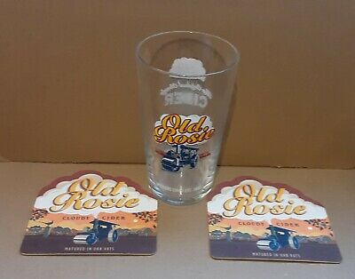 Old Rosie Cider Pint Glass ce Stamped Collectable Pint Glass