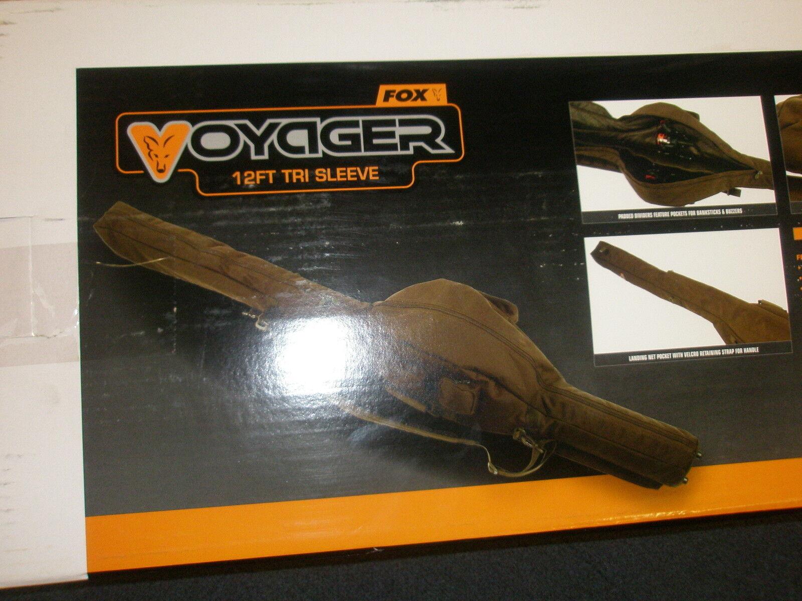 Fox Voyager Tri Manga 12 ft (approx. 3.66 m) Bolsa de viaje varilla Cochepa aparejos de pesca