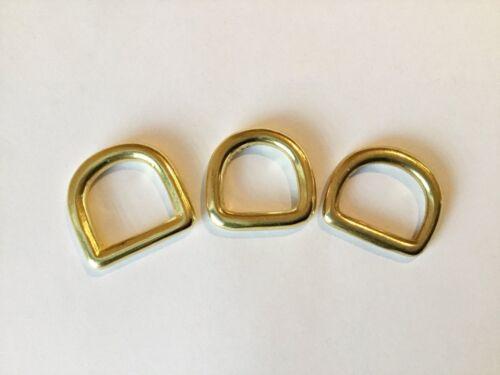 Version C nahtlos 4 x D-Ring 16 mm Messing rostfrei