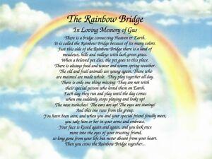 """The Rainbow Bridge"" Memorial Poem Personalized Gift For ..."