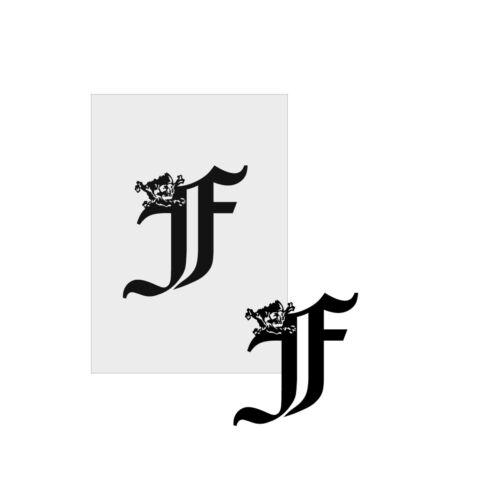 Schablone Stencil Template Buchstaben Airbrush # 2025 Schädel Skull Initiale F