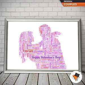 Image Is Loading PERSONALISED WORD ART OF A COUPLE FOR BIRTHDAY