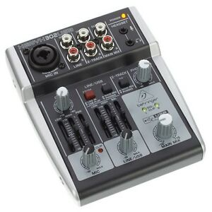 behringer xenyx 302 usb portable studio recording mixer with audio interface ebay. Black Bedroom Furniture Sets. Home Design Ideas