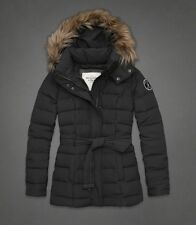 New Abercrombie and Fitch A&F Women Blair Down Jacket / Coat / Outwear Grey szM