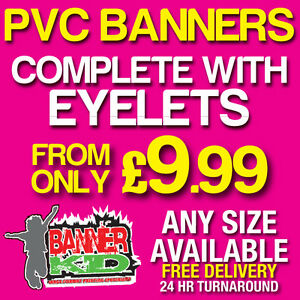 PVC BANNERS  PRINTED OUTDOOR SIGN VINYL BANNERS  ADVERTISING UK SELLER - <span itemprop=availableAtOrFrom>Leighton Buzzard, United Kingdom</span> - PLEASE NOTE we don't accept returns once items are approved and printed. Most purchases from business sellers are protected by the Consumer Contract Regulations 2013 which give y - Leighton Buzzard, United Kingdom