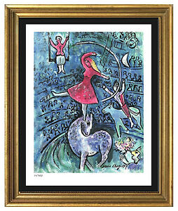 Marc-Chagall-Signed-Hand-Numbered-Ltd-Ed-034-Circus-Girl-034-Litho-Print-unframed