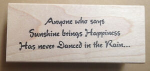 Mounted Rubber Stamp Dance Quote Dancers Dancing Sayings Danced