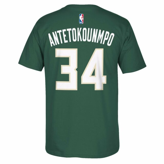 6c9ce9fc7 adidas Giannis Antetokounmpo Milwaukee Bucks Hunter Green Net Number ...