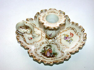 Antique-KPM-Konigliche-Porzellan-Manufaktur-Germany-Victorian-Candle-Holder
