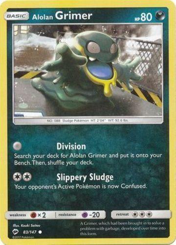 Pokemon 4X ALOLAN GRIMER 83//147 COMMON NM CARD    BURNING SHADOWS  SET