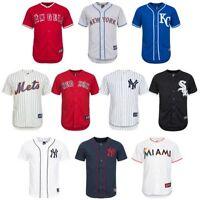MLB Baseball Jersey Majestic Men's Jersey Marlins Mets Sox Yankees Angels new