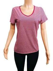 Image is loading Nautica-Beet-Red-Striped-Short-Sleeve-Sleep-Shirt- 80c7a8105