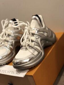 fc9a67761 NIB Louis Vuitton LV Archlight Sneaker in Metallic Silver sz 37 | eBay
