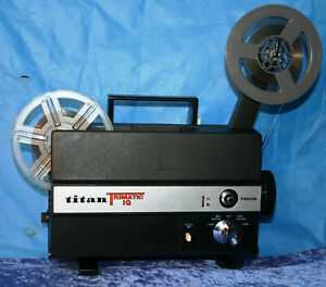 SUPER-amp-STANDARD-8mm-SILENT-MOVIE-PROJECTOR-TITAN-TRIMATIC-IQ-NEW-LAMP-SERVICED