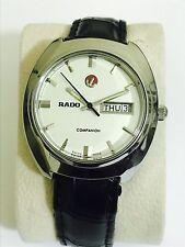 Vintage Hombres Reloj con Cuadrante Blanco Rado compañero Automático Reloj Swiss Made
