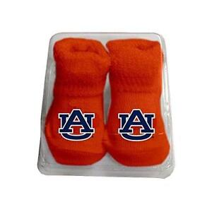 Auburn Tigers Infant Booties, One Size, Orange, New