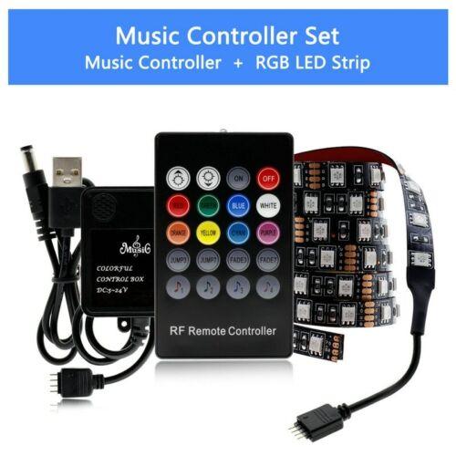 USB LED Strip 5050 RGB TV Flexible Background Light 50CM 1M 2M 3M 4M 5M 60LED//m