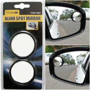2x Blind Spot Mirror Round Adhesive Inch Easy Fit Wide View Angle Car Van