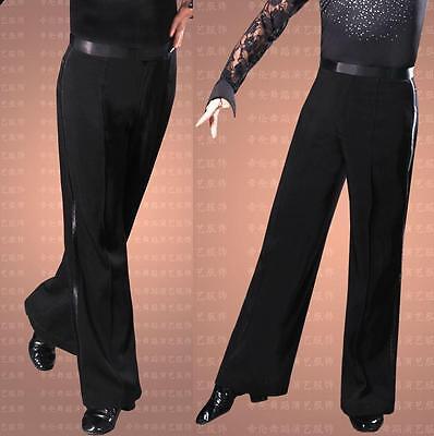 Men/'s Ballroom Latin Dance Pants Jazziness Samba Modern Dance Stage Dress Black