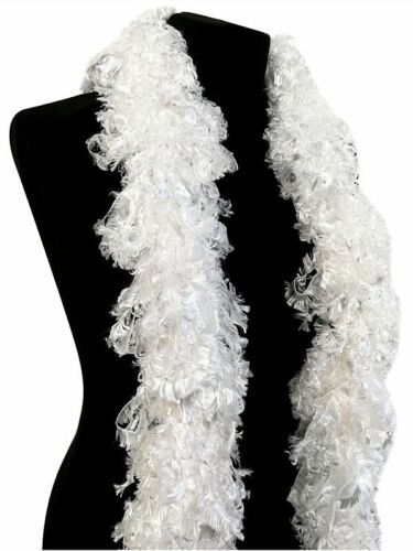 Luxurious White Featherless Boa 1920/'s Long Flapper Gatsby Style Burlesque