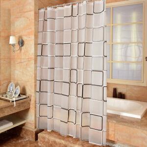 Details Sur Rideau Douche Etanche Avec 12 Anneaux Pour Salle De Bain Toilettes
